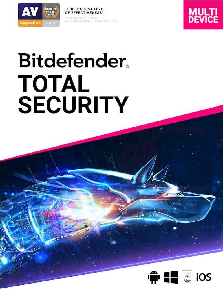 Bitdefender Total Security 5 Devices Windows, iOS Mac ...